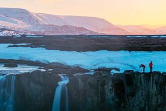 Près de la chute de Goðafoss