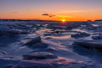 Le Fleuve Saint-Laurent gelé en Hiver à Cap-Rouge