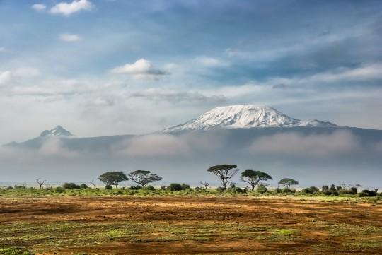 Vue du Kilimanjaro depuis le Parc National d'Ambosely au Kenya
