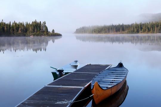 Le lac Cascapédia en Gaspésie