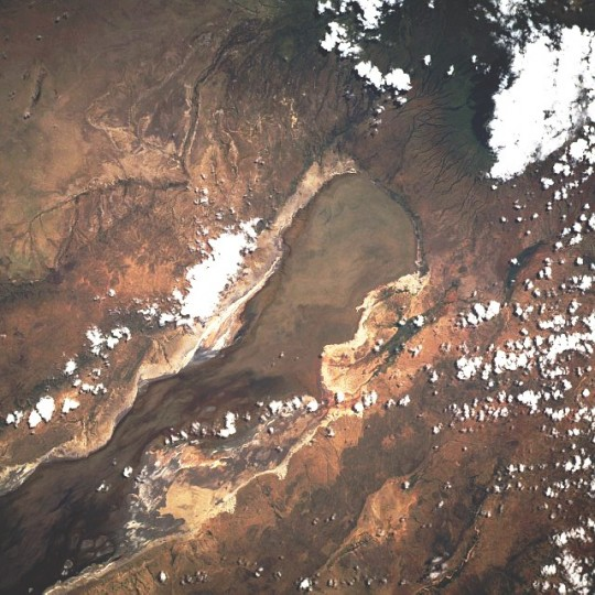 Le lac Eyasi - vue satellite
