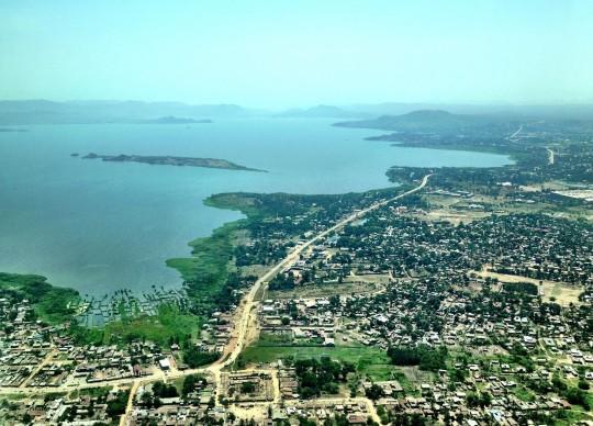 La ville de Musoma vue du ciel