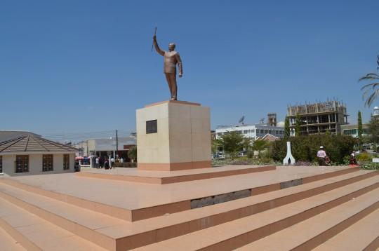 La statue de Julius Nyerere à Dodoma la Capitale de la Tanzanie