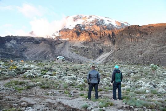 Vue sur le Kili depuis Barranco Camp