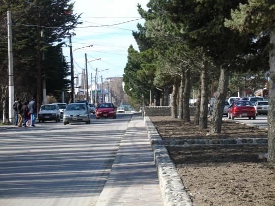 Vue sur l'avenue del libertador de El Calafate