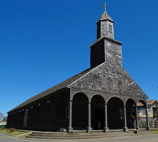 L'église Santa María de Loreto d'Achao sur l'Île de Chiloé