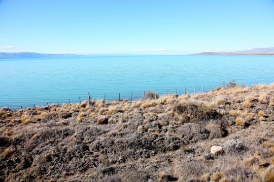 Vue sur le Lago Argentino près de El Calafate