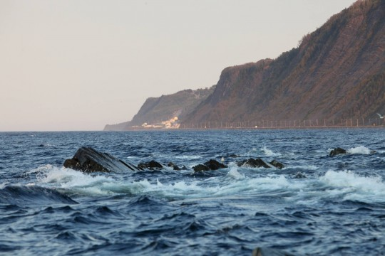 La côte du Saint Laurent en direction de la Gaspésie
