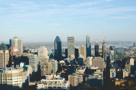 Downtown Montreal, vue sur les gratte-ciels