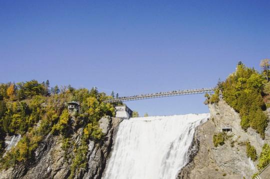 La Passerelle au dessus des chutes de Montmorency